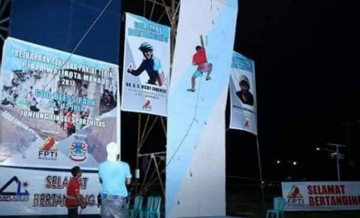 Ramaikan HUT Kota Manado ke-394, FPTI Gelar Lomba Panjat Tebing