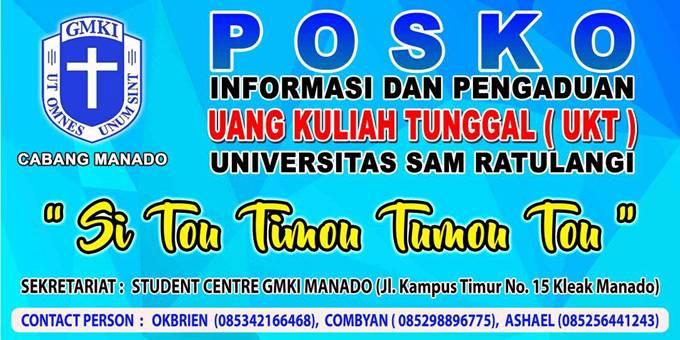 Posko Informasi dan Pengaduan GMKI Manado