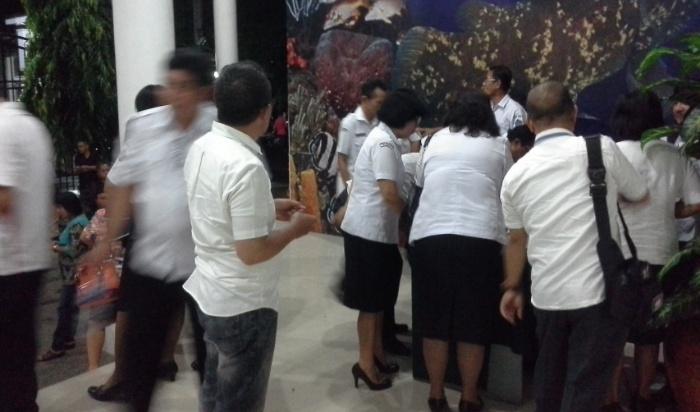 Suasana Para Kepsek saat mendaftar