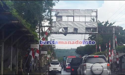 Bando Jalan di Talete II Berpotensi Bahaya