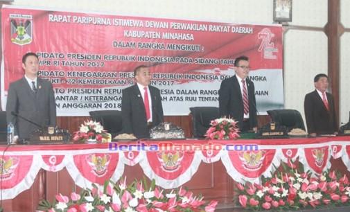 DPRD Minahasa Gelar Nonton Bareng Pidato Kenegaran