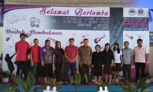Pemuda GMIM Wilayah Langowan Satu Sukses Gelar Pemanasan FSPG 2017