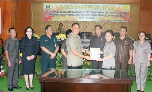 DPRD Tomohon Ajukan Ranperda Hak Keuangan dan Administratif Pimpinan dan Anggota Dewan