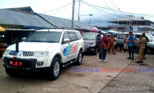 Turlap, Wawali Manado MOR DOMINUS BASTIAAN Enggan Turun Dari Mobil di Pasar Bersehati