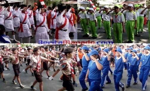 350 Tim Ikut Gerak Jalan HUT Proklamasi di Minut