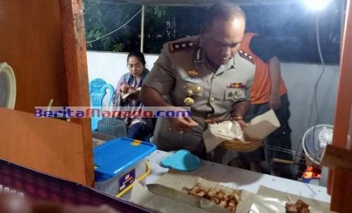 Ada di Minut !!! Pejabat Polisi yang Tak Malu Makan di Kaki Lima