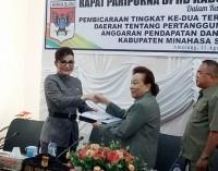 DPRD Minsel Gelar Paripurna Raperda Pertanggungjawaban Pelaksanaan APBD 2016