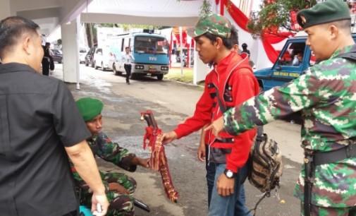 Lokasi Upacaran HUT Ke-72 RI di KONI Manado Dijaga Ketat TNI/Polri