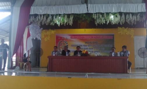 Kejari Minsel Sosialisasi Pencegahan Korupsi Dandes ke Hukum Tua se-Minsel dan Mitra