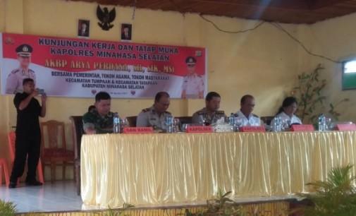 Kapolres Arya Perdana Bertemu Pemerintah dan Masyarakat se-Kecamatan Tumpaan/Tatapaan