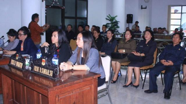 Para Pimpinan OPD Yang Hadir Dalam Rapat Paripurna DPRD Minsel