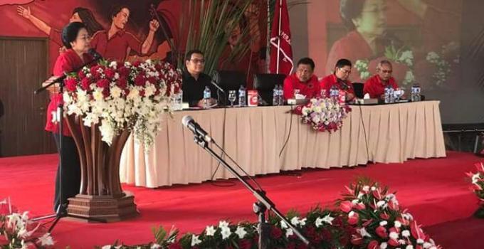 Sambutan Megawati sekaligus membuka Rakerda PDIP Sulut
