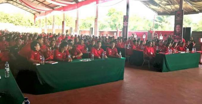 Dihadiri ratusan pengurus PDIP se-Sulut