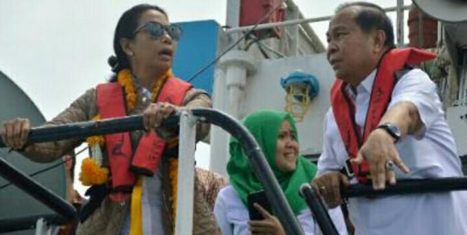 Menteri Rini bersama Walikota