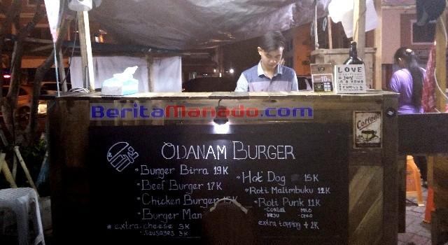 Odanam Burger di Jangkar Sandar kawasan Mega Mas Manado