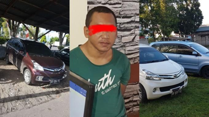 Faizal diduga pelaku penggelapan mobil bersama tiga unit mobil yang berhasil diamankan