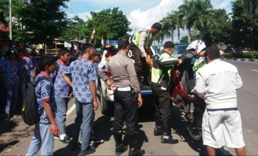 """Ugal-ugalan di Jalan, Tiga Unit Sepede Motor Milik Pelajar """"Diangkut"""" Polres"""