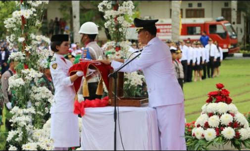 Walikota Tomohon Inspektur Upacara Peringatan HUT ke-72 RI