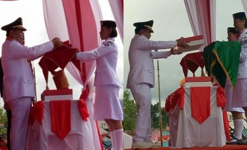 Walikota dan Wawali Bitung Berbagi Tugas di Perayaan HUT ke-72 RI