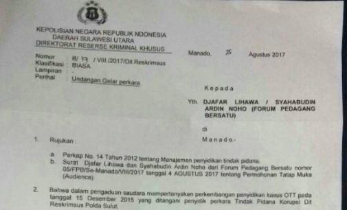 Gelar Perkara Siang Ini, Forum Pedagang Bersatu Laporkan Dirut PD Pasar ke Polda Sulut