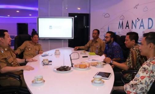 Manado Masuk Nominasi 30 Besar, VICKY LUMENTUT, MOR BASTIAAN Dan RUM USULU Terima Tim Penilai di Cerdas Command Center