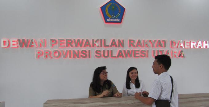 Gedung DPRD Sulut counter depan