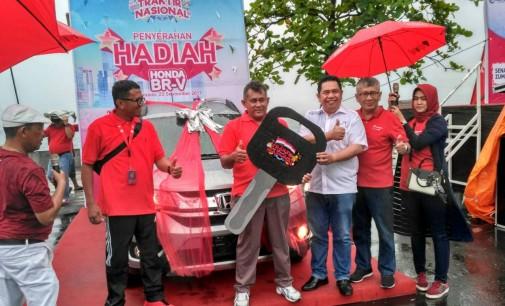 Traktir Nasional 2017 Telkomsel, CHRISTOFORUS PADAMA Bawah Pulang Honda BR-V