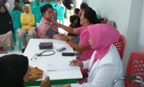 HKGB ke-65: Bhayangkari Minut Gelar Pelayanan Kesehatan Gratis