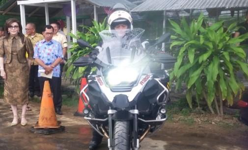 Rombongan Moge Kapolda Sulut Ramaikan Festival Teluk Amurang 2017