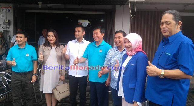 JAK bersama pengurus Partai Demokrat Provinsi Sulawesi Utara