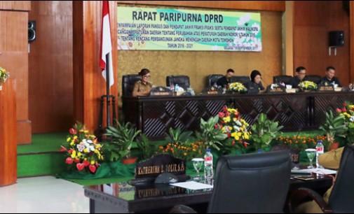 Ranperda Perubahan RPJMD Tomohon 2016-2021 Ditetapkan, Kepala PD Diminta Proaktif