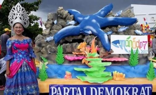 Anggunnya Yulita Takalamingan saat Tampil di Karnaval Manado Fiesta 2017