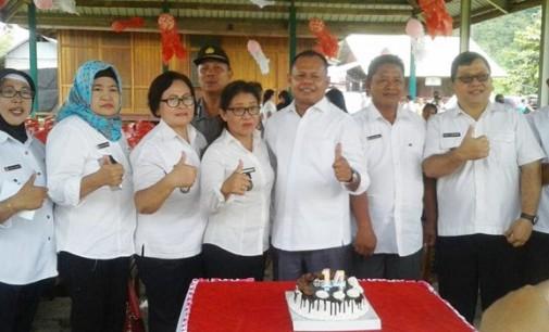 Pemerintah dan Masyarakat Rayakan HUT ke-14 Kecamatan Ratatotok dengan Kesederhanaan