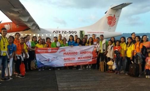 Wings Air Resmi Terbang Perdana Manado-Ambon