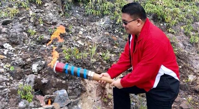 Pengambilan api Obor PORPROV Sulut 2017