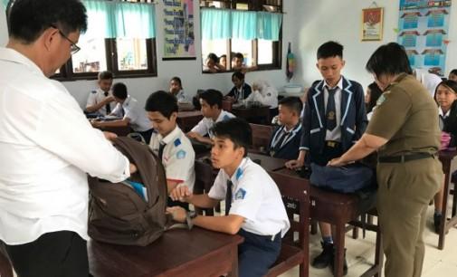 Diduga Pil PCC Sudah Masuk Bitung, BNN Razia Siswa Sekolah