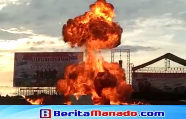 Ledakan didepan panggung utama HUT ke-72 TNI