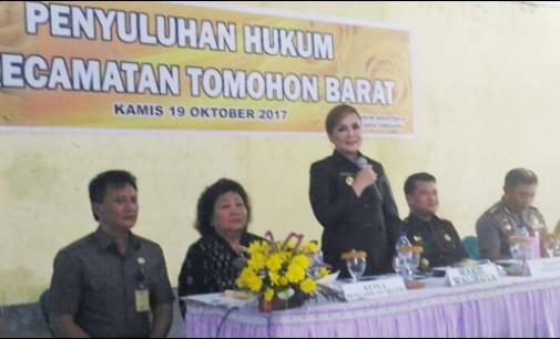 Penyuluhan Hukum Bagi Masyarakat di Kecamatan Tomohon Barat