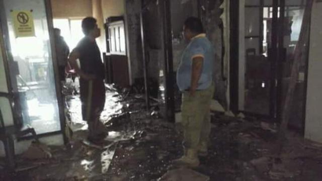 Kebakaran di Kantor Bupati Minsel