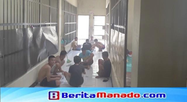 Kondisi ruang tahanan Polres Minut.