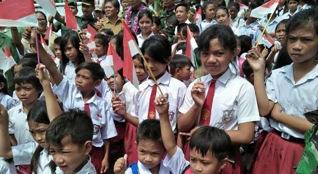 Siswa SD Inpres Makalisung.