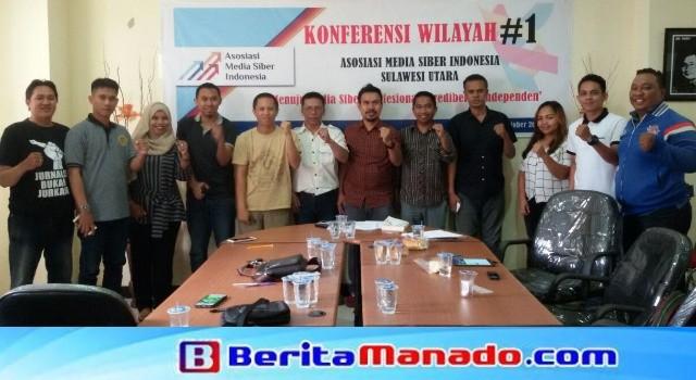 Korwil AMSI Upi Asmaradhana bersama peserta Konferensi Wilayah Pertama AMSI Sulut.