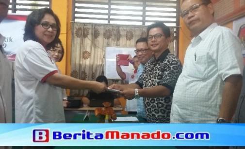 Heran !!! Partai Gerindra Daftar ke KPUD Minsel, Hanya Didampingi 1 Anggota Dewan