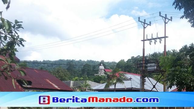 Gardu Listrik di Desa Kota Menara