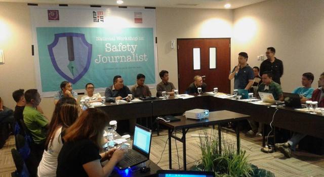 20 jurnalis ikut pelatihan safety jurnalis.