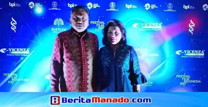 Olly Dondokambey bersama Ketua TP-PKK Ir Rita Maya Dondokambey-Tamuntuan