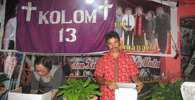 Pesta iman pemilihan Pelsus kolom 13 berlangsung demokratis