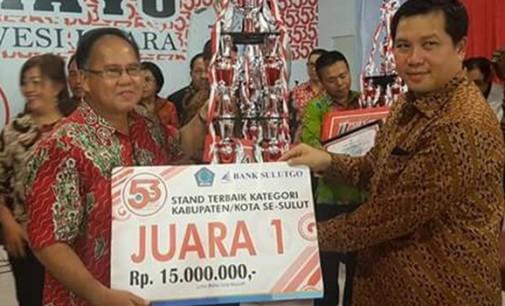 Stand Pameran Pemkab Minahasa Kembali Raih Juara Satu