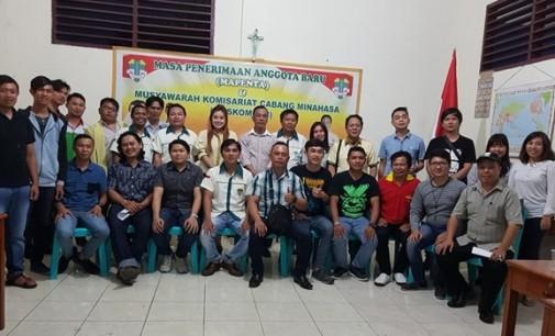 PRESLY KORENGKENG Terpilih Ketua Pemuda Katolik Minahasa