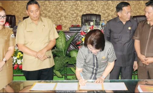 DPRD Tomohon Gelar Paripurna Penandatanganan Nota Kesepakatan KUA-PPAS 2018